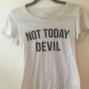 'Not Today Devil' T-shirt